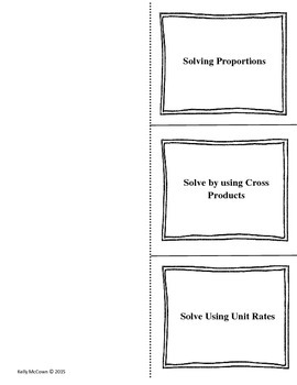Middle School Math Foldables: Ratios & Proportional Relations {Grade 6: Set 1}