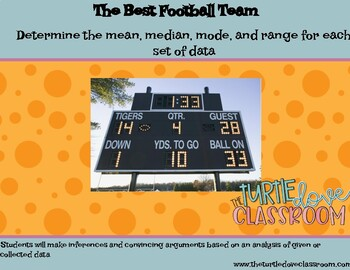 Middle School Math Football Scores: What's the  Mean, Medi