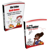 Middle School Math Game Book & 8th Grade File Folder Math Games