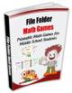Middle School Math Game Book & 8th Grade File Folder Math Games
