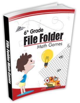 Middle School & 6th Grade + 7th Grade + 8th Grade File Folder Math Games