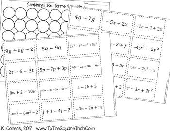 Middle School Math Game Bundle