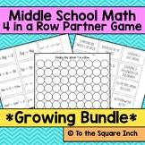 Middle School Math Game Bundle