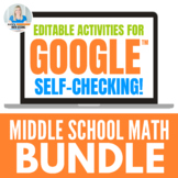 Middle School Math - Activities for Google Drive Bundle