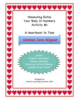 Middle School Math Activity For Unit Rates & Ratio #1: A Heartbeat in Time