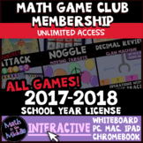 Middle School Math Interactive Games 2017-2018 License