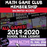 Middle School Math Interactive Games 2019-2020 License