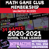 Middle School Math Interactive Games 2020-2021 License - D