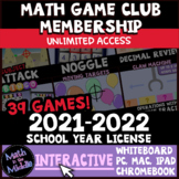 Middle School Math Interactive Games 2021-2022 License - D