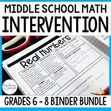 Middle School Math Intervention Bundle for Grades 6 - 8
