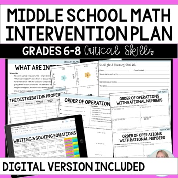 Math Intervention Plan : Middle School Common Core