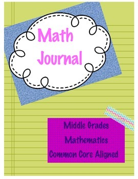 Middle School Math Journal ~ High-Level Open-Ended Questions to up the Rigor