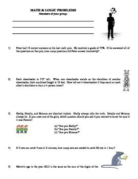 Middle School Math & Logic Problems