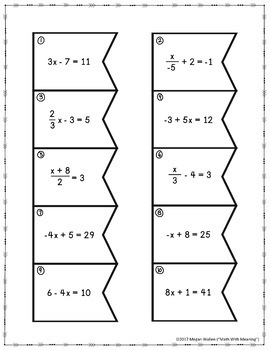 Middle School Math Matching Activity Growing Bundle