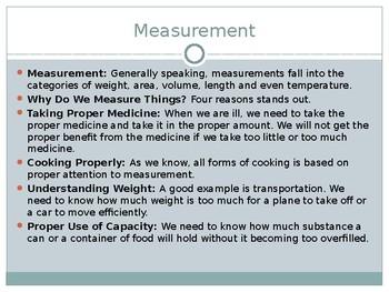 Middle School Math: Measurement