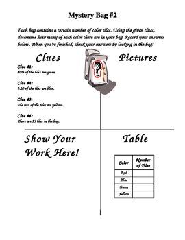 Middle School Math Mystery Bag TEKS 8.2 A 8.2B