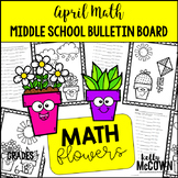 Middle School Math NO PREP Bulletin Board {April}