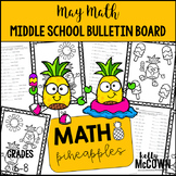 Middle School Math NO PREP Bulletin Board {May}