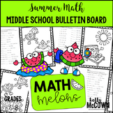 Middle School Math NO PREP Bulletin Board {Summer}
