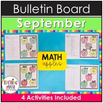 Middle School Math NO PREP Bulletin Board {September}