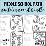 Middle School Math NO PREP Bulletin Boards BUNDLE