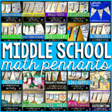 Middle School Math Pennants Growing Bundle