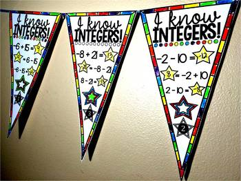 Middle School Math Pennants Growing Bundle