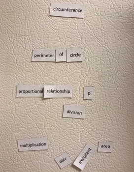 Middle School Math Poetry Magnets
