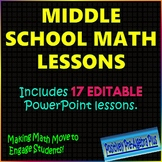 Middle School Math PowerPoint Bundle - Distance Learning