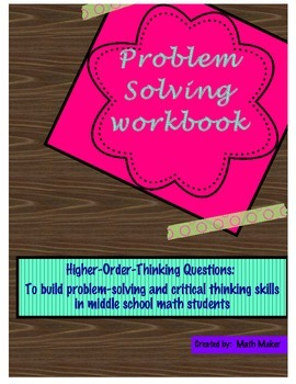 Middle School Math Problem Solving Workbook