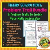 Middle School Math Problem Trail Bundle