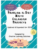 Middle School Math Project: Problem-A-Day Math Calendar