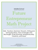 Middle School Math Project with Rubric: Future Entrepreneur