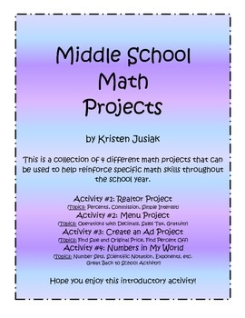 real life math projects for middle school