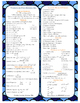 Middle School Math Reference Sheet Bookmark