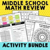 Middle School Math Review Activities