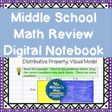 Middle School Math Review Digital Notebook Activities Bundle