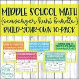 Middle School Math Scavenger Hunts Build-Your-Own Bundle: 10-Pack