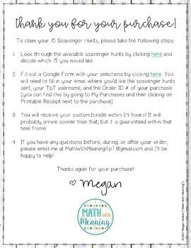 Middle School Math Scavenger Hunts Build-Your-Own Bundle: 15-Pack