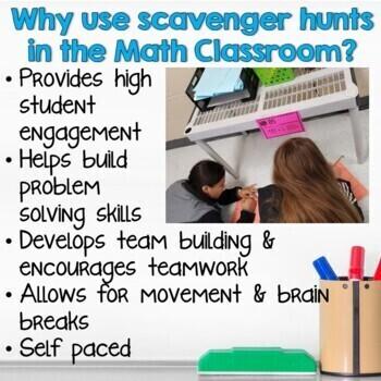 Bundle of Scavenger Hunts for Middle School Math- Grade 7