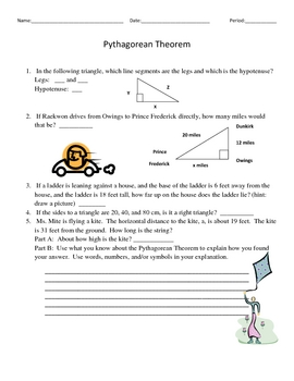 Middle School Math Standard Review/Pythagorean, Parallel Lines, etc.