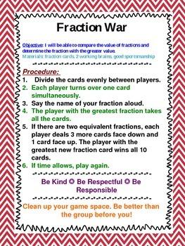 Middle School Math Station Games Set 2