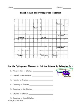 Middle School Math Station: Pythagorean Theorem and Graphing