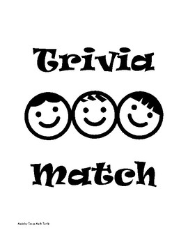 Middle School Math Station: Scientific Notation Trivia Match Game