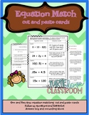 Middle School Math Station: Writing Equations from word problems, Matching