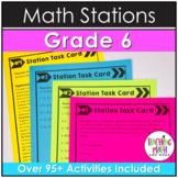 Math Stations 6th Grade BUNDLE