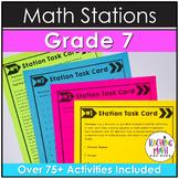 Middle School Math Stations: 7th Grade BUNDLE