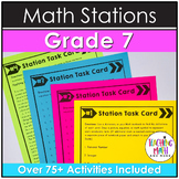 Middle School Math Stations: 7th Grade BUNDLE
