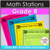 Math Stations 8th Grade BUNDLE