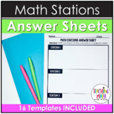 Middle School Math Stations Answer Sheet Guides